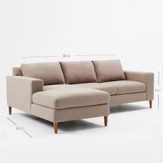 York 2-Piece Sectional | West Elm