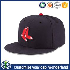 057c72e88e398 China wholesale website embroidery simple flat brim fitted caps hats men