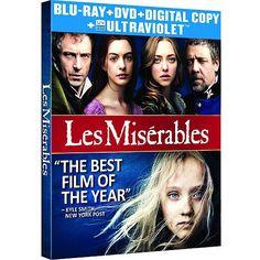Les Miserables (2012) (Blu-ray + DVD + Digital Copy + UltraViolet) (Widescreen)
