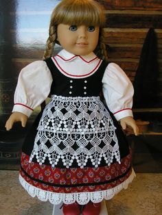 Empress Secret Closet ~  We purchased this Folk Dress with stunning lace apron and hem trim  from Tomi Jane at dolltimes via Etsy.