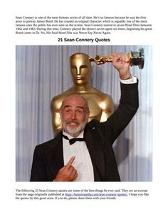 Please check out some Sean Connery quotes and facts and please repin if you like 'em Famous Quotes About Life, Life Quotes, Scottish Actors, Sean Connery, Fun Facts, Check, Movies, Top, Quotes About Life