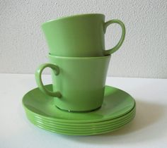 texas ware cups and plates by Lulu'sDressingRoom, via Flickr