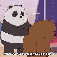 We Bare Bears Wallpapers, Panda Wallpapers, Cute Cartoon Wallpapers, Cute Panda Wallpaper, Sad Wallpaper, Bear Meme, Best Friend Wallpaper, Disney Princess Cartoons, 3 Bears