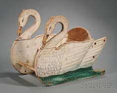 Painted Wooden Swan-form Buggy Seat | Sale Number 2468, Lot Number 473 | Skinner Auctioneers