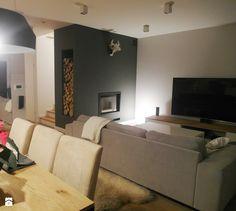 jesienna - Mały salon z jadalnią, styl minimalistyczny - zdjęcie od NaNovo