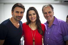 Na foto Renato Prieto com os atores Murilo Rosa e Fernanda Machadona primeira reunião de elenco e leitura do texto para o filme A Menina Índigo