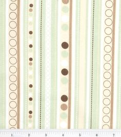 Nursery Fabric Monkey Stripe