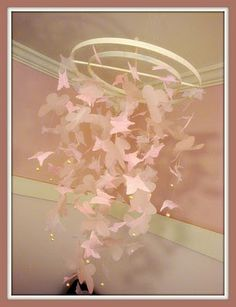 DIY Pottery Barn butterfly mobile knock-off