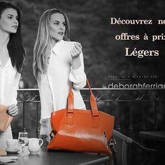 [Go Shopping] Aujourd'hui, début des soldes et personne n'y échappe. Alors, Mesdames, n'hésitez plus à aller sur notre site pour profiter de nos Offres à Prix Légers !  #deborahferrian #summer #sac #shopping #leather