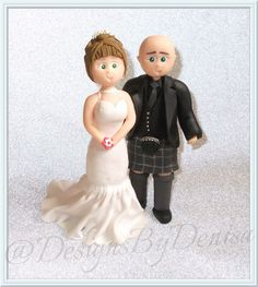 Handmade Personalised Wedding Cake Topper Bespoke Wedding Topper Bride and Groom
