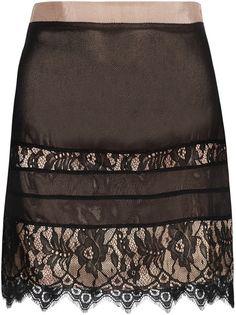 BY MALENE BIRGER   Lace Trimmed Silk Chiffon Skirt - Lyst