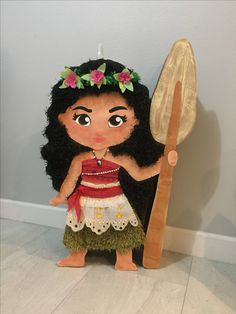 Piñata Moana #moana #piñata moana Moana Theme Birthday, 6th Birthday Parties, Birthday Ideas, Moana Party, Kids Party Decorations, Party Ideas, Ideas Decoración, Birthday Party Centerpieces, Disney Princess Party
