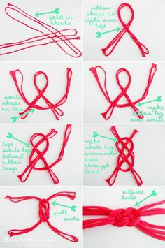 Tutorial in Action #6: Fabric Rag Bracelet with Sailor Knot | rabiscarte
