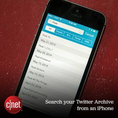 Tweet Seeker is a free app that makes it possible to access your entire Twitter history from your iPhone.