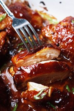 Baked Teriyaki Chicken – An easy chicken dinner baked in the oven with a sticky homemade teriyaki sauce. Baked Teriyaki Chicken – An easy chicken dinner baked in the oven with a sticky homemade teriyaki sauce. Chicken Thights Recipes, Oven Chicken Recipes, Cooking Recipes, Freezer Cooking, Recipe Chicken, Freezer Meals, Yummy Recipes, Cooking Tips, Chicken Recipes