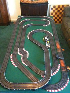 Slot Car Race Track, Slot Car Tracks, Slot Car Racing, Race Tracks, Auto Racing, Race Cars, Grand Prix, Carrera Slot Cars, Scalextric Track