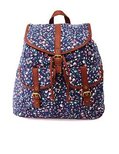Don't forget to get a backpack for school! Floral Print Canvas Backpack #backtoschool #boardingschool