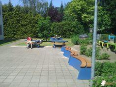 Boombank DeLuxe Antraciet Ovaal bij Gymnasium Apeldoorn in Apeldoorn