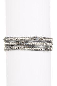Chan Luu Crystal Mix Beaded Wrap Bracelet