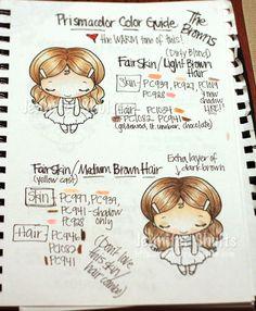 prismacolor skin/hair guide