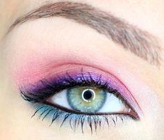 Pink and Blue Makeup Tutorial - Makeup Geek Makeup Geek, Makeup Tips, Kiss Makeup, Makeup Art, Hair Makeup, Blue Eyeshadow, Blue Eye Makeup, Bright Makeup, Colorful Eyeshadow
