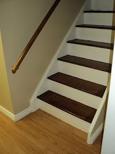 Basement Stairs Ideas painting basement stairs, quick & inexpensive way to transform the