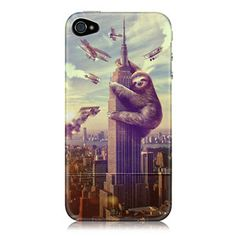 Slothzilla iPhone 4 Case now featured on Fab.