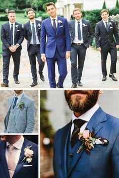 Un costume bleu pour le mariage : la tendance à suivre pour le marié