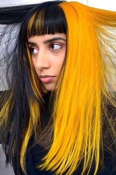Yellow Hair Color, Vivid Hair Color, Hair Inspo, Hair Inspiration, Bright Hair, Messy Hairstyles, Hair Looks, Dyed Hair, Wigs