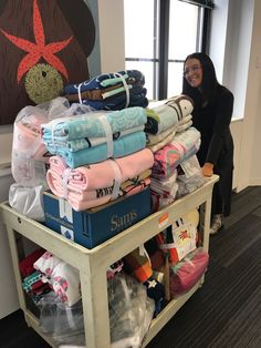 Atmosphere team members gathered together for a Blankets + Cocoa Happy Hour co-sponsored by Steelcase to make blankets to donate to the Minnesota Children's Hospital. We achieved our goal of making 30 blankets!