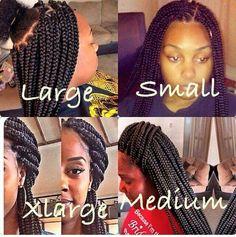 Braid sizes