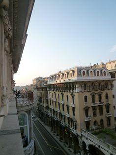 """Panorama, Camera di """"Hotel Bristol Palace"""", Genova Italia (Luglio)"""