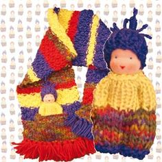 """free scarf and child pattern Scarf has pockets to hold their """"friend"""""""