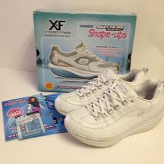 Skechers Women s Shape UPS XF Energy Blast Lace-up Fashion Sneaker White Sz  9  e7b7e970b15