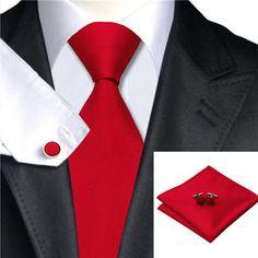 Classic Tie Sets 100% Jacquard Woven Silk Boys Men's Ties