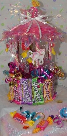 CANDY CAROUSEL Table Top Centerpiece! (A type of Candy Bouquet) Great for Showers, Carnival, or Circus Themes :) on Etsy, $14.95