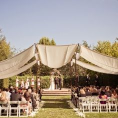Looking to punch up a garden wedding and make it something amazing? Check out this wedding for fabulous ideas.