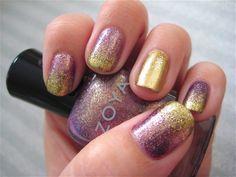 Zoya Daul and Ziv glitter gradient