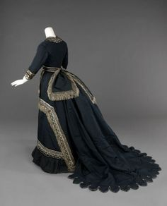 Old Rags - Mourning dress, 1872-74 US, the Met Museum