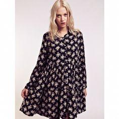 Rochie Alana Floral Shirt Dress, Spring 2014, Dahlia, Monochrome, Collection, Dresses, Fashion, Vestidos, Moda