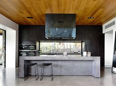 Concrete House developed by Matt Gibson Architecture + Design . Find all you need to know about Concrete House products and more from Bookmarc. Concrete Houses, Concrete Kitchen, Melbourne House, Integrated Fridge, Kitchen Design, Kitchen Inspirations, Modern Kitchen, Kitchen Interior, Trendy Kitchen