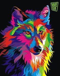 RUOPOTY diy frame Colorful Wolf DIY Painting By Numbers Calligraphy Painting Kit Animals Modern Wall Art Picture For Home Decor-. Oil Painting Pictures, Wall Art Pictures, Pictures To Paint, Abstract Pictures, Wolf Painting, Diy Painting, Painting Canvas, Painting Prints, Arte Pop