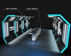 Spaceship Interior, Futuristic Interior, Futuristic Architecture, Design 3d, Cabin Design, Gaming Lounge, Backdrop Design, Exhibition Stand Design, Showroom Design