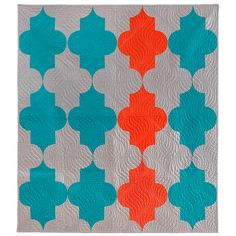 Modern Morocco Quilt Pattern from pileofabric.com