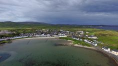 Port Ellen's Frederick Crescent from the air, Isle of Islay