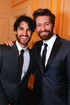 Darren Criss and Matthew Morrison at the opening night after party for Finding Neverland on Broadway New Broadway Musicals, Broadway Theatre, Musical Theatre, Matthew Morrison, Darren Criss, Anastasia Musical, New Iron Man, Finding Neverland, Glee Cast