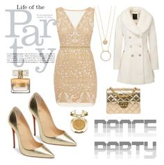 """""""#danceparty"""" by lifehealthfashion on Polyvore featuring Nicole Miller, Christian Louboutin, Chanel, Givenchy, Kate Spade and Milani"""