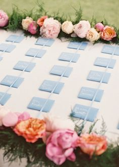 Escort Card Table - Wedding designed by Easton Events - International Wedding Planners with offices in Charleston, SC and Charlottesville, VA photo by Aaron Delesie