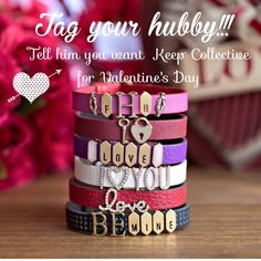 Valentine's Day Bracelets/KEEP keep-collective.com/with/tinamorrison