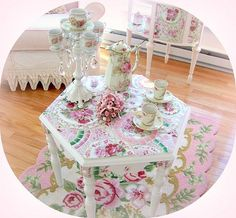 Pink and floral tea party!!